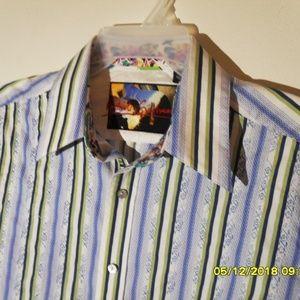 MEN'S BUTTON DOWN ROBER GRAHAM DRESS SHIRT